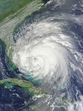 Hurricane Irene over the Bahamas on August 25, 2011 Photographic Print