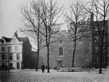 Tower of London, Exterior of Beauchamp Tower Viewed from Tower Green with a Warden on the Green Photographic Print by H. Bedford Lemere