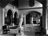 Eaton Hall, Eaton, Chester, Cheshire, Interior of the Saloon; Recess with Statue Photographic Print by H. Bedford Lemere