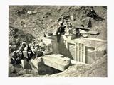 Excavations at Saqqarah Ruins Photographic Print