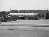 1930s Roadside Zeppelin Shaped Diner Photographic Print