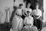 Portrait of Mother with Three Adult Daughters, Ca. 1900 Photographic Print