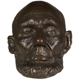 Bronze Cast of the 1865 Life Mask of Abraham Lincoln Photographic Print