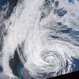 Hurricane Sandy Off the Us East Coast Photographic Print