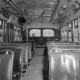 Inside of a Montgomery Transit Bus Fotografie-Druck