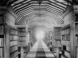 Library, St John's College, Oxford, Oxfordshire, the Interior of the Old Library in Canterbury Quad Photographic Print by Henry Taunt