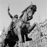 Old Palace Yard, Westminster, London. Detail View of the Richard Coeur De Lion Statue Looking Up Photographic Print by Eric De Mere