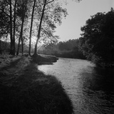 A View of a River Running Through a Rural Wooded Area Photographic Print by John Gay