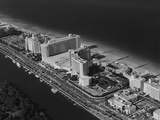 Aerial View Fontainebleau Hotel Miami Beach Florida USA Photographic Print
