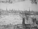 Extract from an Engraving Showing the City of London from Southwark, Major Monuments are Recorded Photographic Print by Eric De Mere