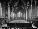 Temple Church, Temple, City of London, Interior View Looking East Down the Nave Photographic Print by Henry Taunt