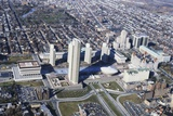 Aerial of Albany Government Complexes Photographic Print