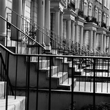 Looking Along the Front Elevation of a Grand Terrace of Houses with Railings Fotografiskt tryck av John Gay