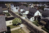 Houses Lining Empty Suburban Streets Photographic Print