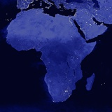 Night Time Satellite View of Africa Photographic Print