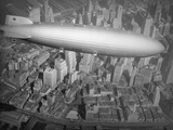 Hindenburg Flying over Manhattan Photographic Print