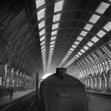 King's Cross Station, London, the Front of Steam Locomotive Engine No. 60006 Photographic Print by John Gay