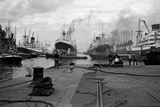 King George V Dock, Canning Town, London Photographic Print by S.W. Rawlings