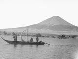 Lake Kawagushi and Mount Fuji Photographic Print