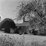 Country Farm House, Hampshire, an Exterior View from the Gardens to the East of the House Photographic Print by John Gay