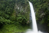 Waterfall in Rainforest Along Fortuna River Photographic Print