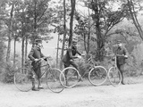 Bicyclists in Central Park Photographic Print