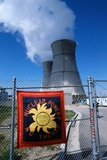 Sign on Fence at Nuclear Power Plant Photographic Print