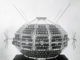 Ionospheric Research Satellite Photographic Print