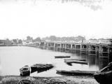 Putney Old Bridge, Putney, Greater London, Exterior View of the Old Timber Bridge Photographic Print by Henry Taunt