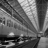 Victoria Station, London, Interior of the Station Showing Two Adjoining Platforms Photographic Print by John Gay