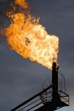 Natural Gas Flare Photographic Print
