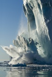 Calving Iceberg in Disko Bay in Greenland Photographic Print