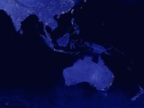 Night Time Satellite View of Australasia Photographic Print