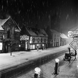 Melton Mowbray, Leicestershire. Snowy Winter's Night Photographic Print by John Gay
