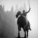 King Richard I Statue, Old Palace Yard, Westminster, Greater London Photographic Print by John Gay