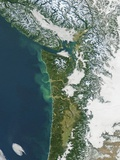 Pacific Northwest Coast of the United States in Winter Photographic Print