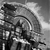 Covent Garden, London, Looking Up at the Arched Iron and Glass Facade of the Market's Floral Hall Photographic Print by John Gay
