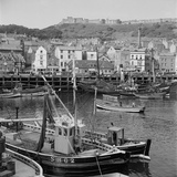 Scarborough, North Yorkshire, Fishing Boats Moored in the Old Harbour Photographic Print by Hallam Ashley