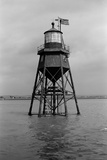 Chapman Light, Canvey Island, Essex, Chapman Light in the Thames Estuary Off Canvey Island Photographic Print by S.W. Rawlings