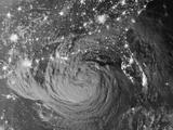 Night View of Hurricane Isaac Approaching Louisiana Photographic Print