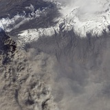Detailed View of Ash Plume at Eyjafjallajokull Volcano Photographic Print