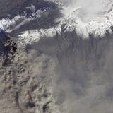 Detailed View of Ash Plume at Eyjafjallajokull Volcano Photographic Print