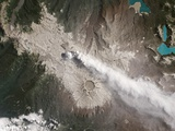 Satellite View of Chile's Puyehue Cordón Caulle Volcano Photographic Print