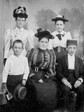 Family Group Pose for Tintype Photograph, Ca. 1888 Photographic Print