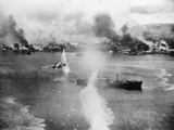 Battle in South Pacific Photographic Print