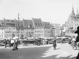 Market Place in Nuremberg Photographic Print