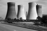 Lincolnshire, General View Showing Cooling Towers at an Unidentified Power Station Photographic Print by Eric De Mere