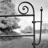 Detail View in an Unidentified Location Showing a Wrought Iron Farm Gate Latch Photographic Print by Eric De Mere