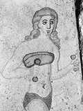 Detail of Young Women Exercising Late Antique Roman Mosaic Reprodukcja zdjęcia
