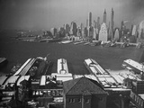Aerial View from Brooklyn to Manhattan Photographic Print